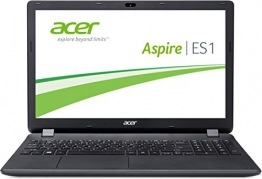 Acer Aspire ES 15 ES1-512-C1YL 39,6 cm (15,6 Zoll HD) Notebook (Intel Celeron N2940, 4GB RAM, 500GB HDD, Intel HD Graphics, DVD, Win 10 Home) schwarz - 1