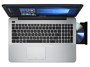 ASUS F555LA-XX1806T 39,6 cm (15,6 Zoll) Notebook (Intel Core i3-4005U, 4GB RAM, 1TB HDD, Intel HD Graphics 4400, DVD-RW, Win10 Home) matt schwarz