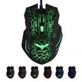 HAVIT HV-MS672 LED Gaming Maus, 2400DPI 6 Tasten und 7 beruhigenden LED-Farben - 1