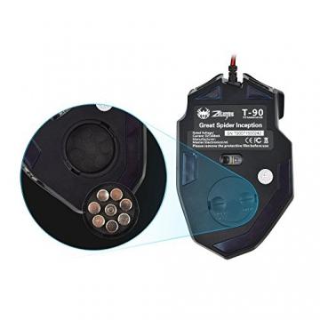 Kingtop optische Gaming Maus für Pro Gamer 9200dpi mit 8 Tasten, LED, USB schnurgebunden