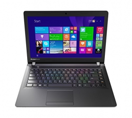 Lenovo 100 35,6 cm (14 Zoll HD) Notebook (Intel Celeron N2840, 2,6GHz, 2GB RAM, 250GB HDD, Intel HD, DOS) schwarz - 1