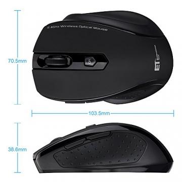 VicTsing Mini Schnurlos Maus Wireless Mouse 2.4G 2400 DPI 6 Tasten Optische Mäuse mit USB Nano Empfänger Für PC Laptop iMac Macbook Microsoft Surface, Office Home usw.