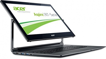 Acer Aspire R13 R7-371T-71H0 33,8 cm (13,3 Zoll WQHD) Convertible Notebook (Intel Core i7-5500U, 3,0GHz, 8GB RAM, 512GB SSD, Intel HD Graphics 5500, Multi-Touchscreen, Windows 8.1) grau