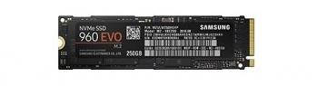 Samsung MZ-V6E250BW SSD 960 Evo NVMe M.2 250 GB mit bis zu 3.200MB/s sequentielle Lese und 1.900MB/s Schreibgeschwindigkeit -